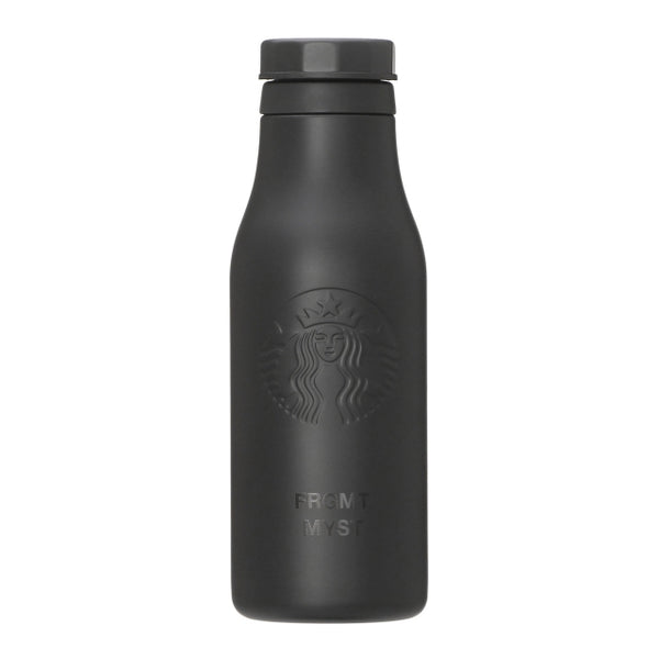 fragment design x STARBUCKS Stainless Logo Bottle Mat Black FRGMT MYST [ 4 - 473ml ]