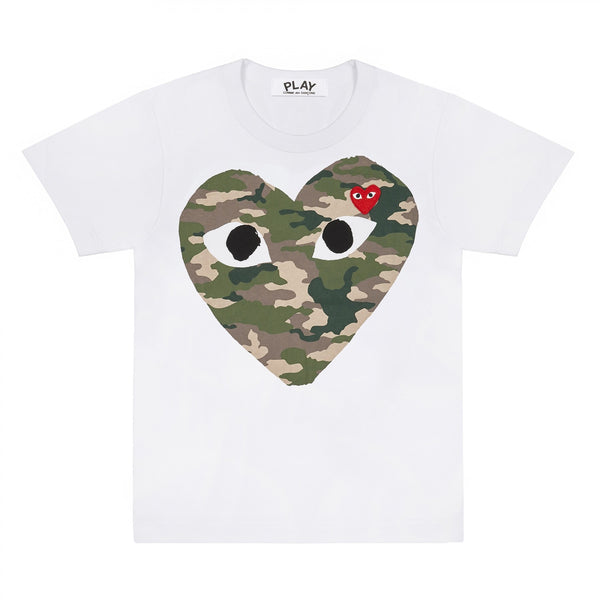 COMME des GARCONS Camouflage Heart PLAY Tee ( Men )