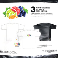 THE CONVENI x fragment design x FRUIT OF THE LOOM 3P TEE