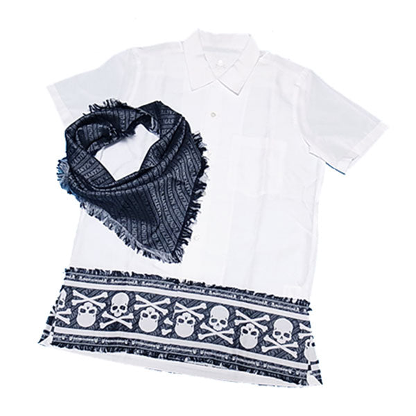 mastermind JAPAN 13S/S Jaquard S/S Shirt with Stole