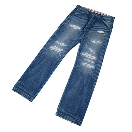OriginalFake 11A/W DAMAGED PAINTER REPAIR DENIM