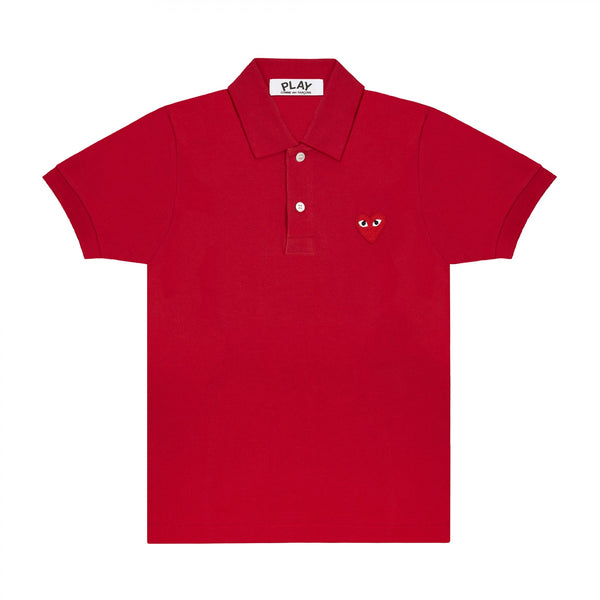 COMME des GARCONS Red Heart PLAY Polo Shirt ( Ladies )