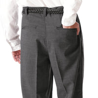 SOPH. 21S/S SOLOTEX TROPICAL STRETCH WOOL 2TUCK WIDE TAPERED PANTS