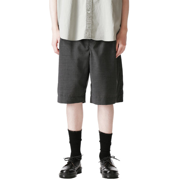 SOPH. 21S/S SOLOTEX TROPICAL STRETCH WOOL 1TUCK SHORTS
