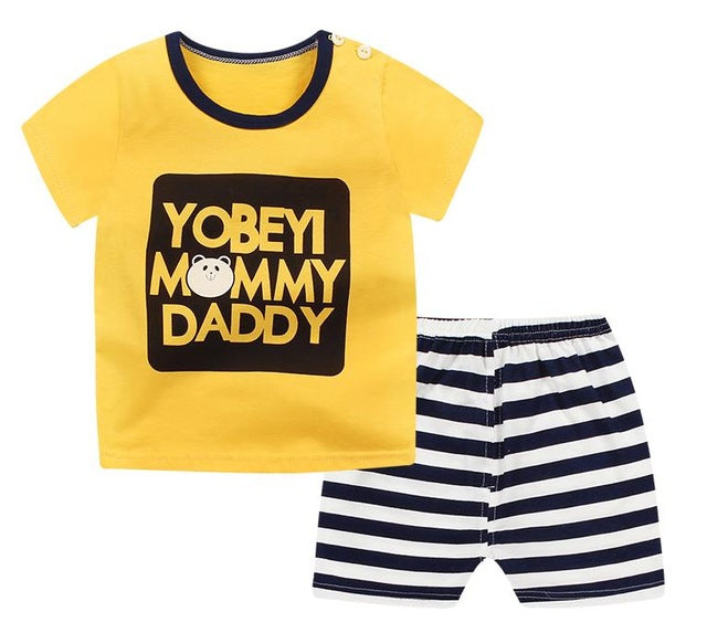 895a928ec8654 ... Summer children clothing sets cartoon toddler girls clothing sets top+pant  2Pcs/sets kids ...