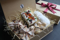 Large Mince Pie, Stollen, Cookies and Xmas Cake Gift Box