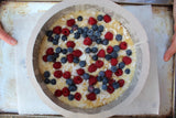 Banana and Berries, Lemon Coconut Cake - Vegan