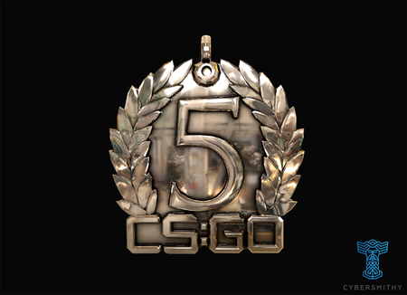 Cs:go - 5 Year Medallion 14K Rose Gold Pendants And Necklaces