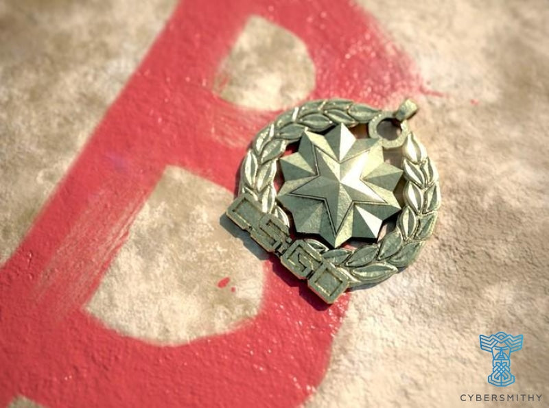 CS:GO - Distinguished Master Guardian Pendant - CyberSmithy