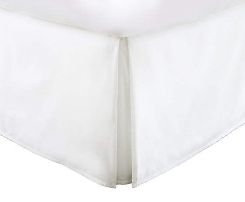 Vera Nice Bed Skirt with 15-inch Drop - Double Brushed Microfiber Pleated Dust Ruffle