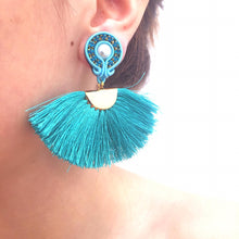 Load image into Gallery viewer, Abanicos - Fan earrings - 17 colours