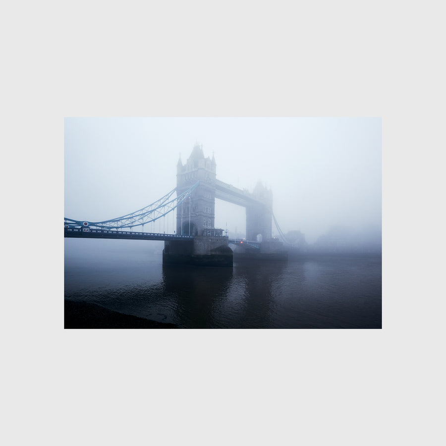 View of the Tower Bridge in the Fog