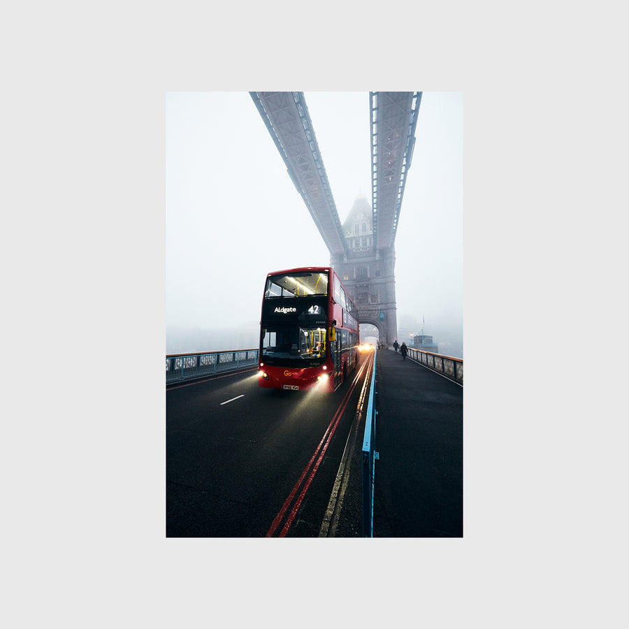 Bus on the Tower Bridge