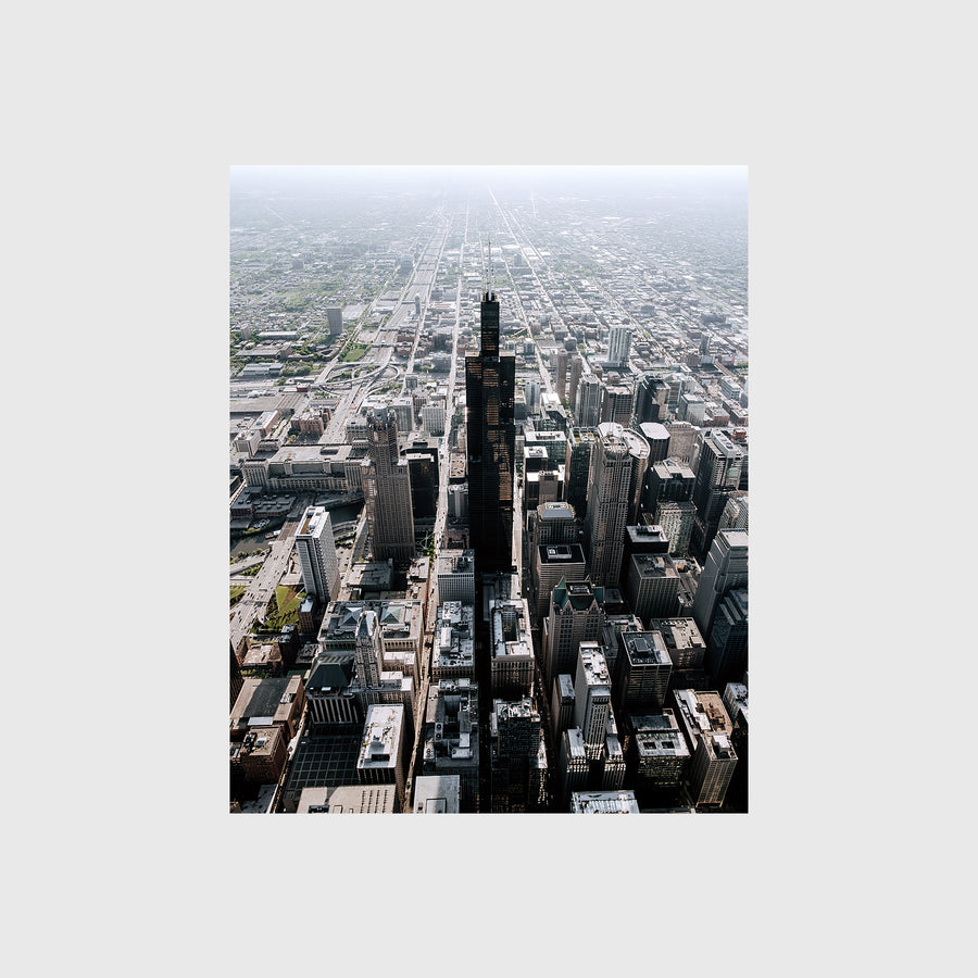 Aerial view of Willis Tower