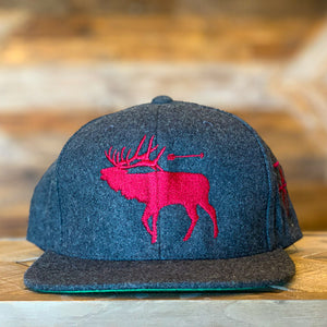 Melton Wool | 6P Snap Back | Elk