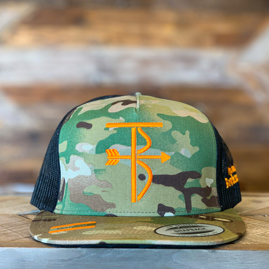 Thats Bowhunting| 5P Trucker Snap Back | Multi-Cam TB Logo