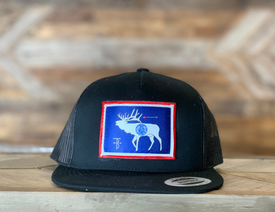 That's Bowhunting | Black Trucker | Elk Flag