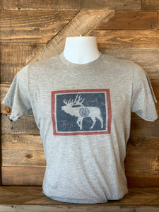 Thats Bowhunting | Elk Wyoming Flag | Heather Grey