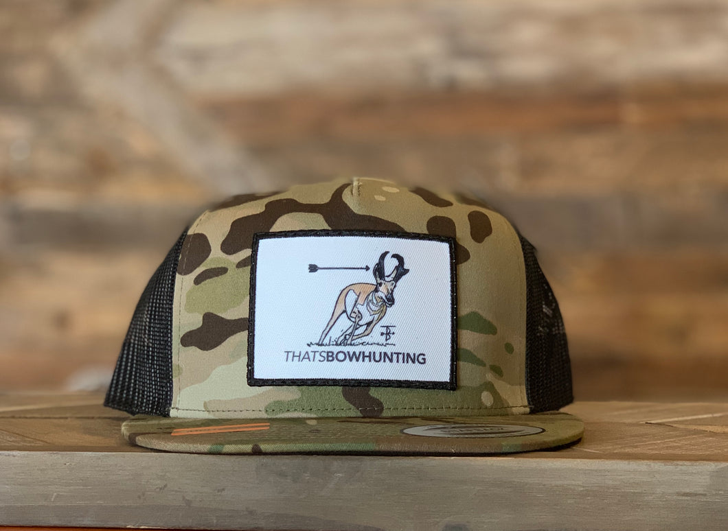 That's Bowhunting | Multi-cam Trucker Snap back | Antelope Patch
