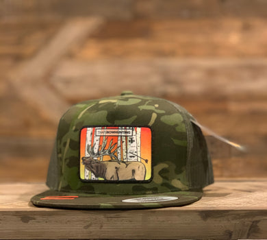 Multicam | 5P Trucker Snap Back | Elk Aspen Patch