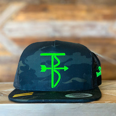 That's Bowhunting | Black Multi-cam Trucker | TB Logo