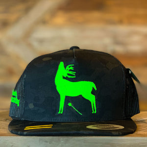 That's Bowhunting | Black Multi-cam Trucker | Whitetail Logo