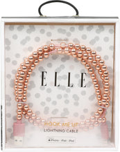 Load image into Gallery viewer, Elle Pearl 3 ft Lightning Cable-Rose Gold