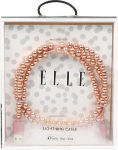 Elle Pearl 3 ft Lightning Cable-Rose Gold