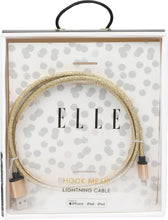 Load image into Gallery viewer, Elle Glitter 3 ft. Lightning Cable-Gold