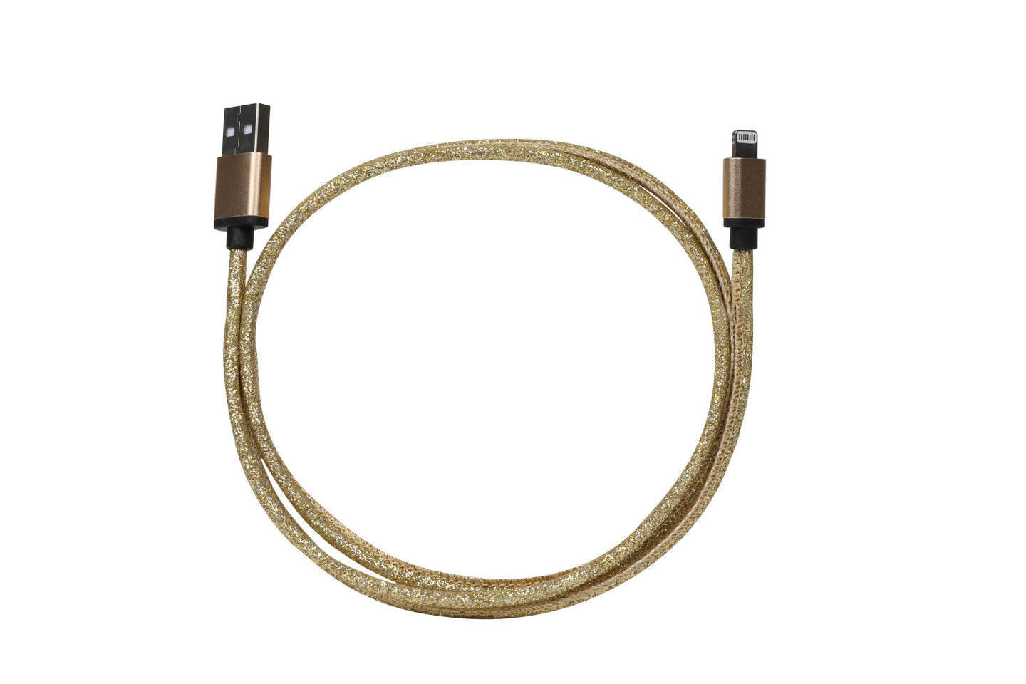 Elle Glitter 3 ft. Lightning Cable-Gold