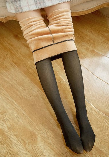 Warme winterpanty transparant-look