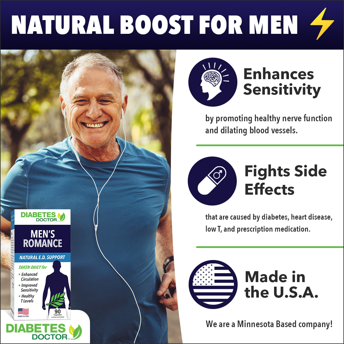 Extra-Strength Blood Sugar & Men's Romance - Double Pack