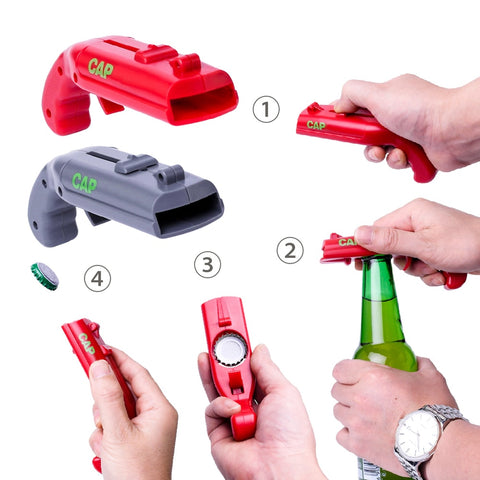 Cap Gun Launcher Shooter Bottle Opener