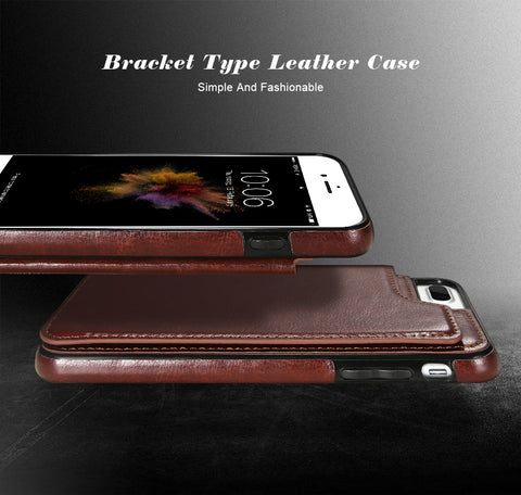 4 IN 1 LUXURY LEATHER CASE FOR IPHONE X 6 6S 7 8 PLUS