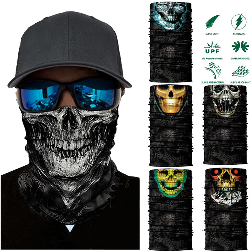 3D Seamless Balaclava Magic Ghost Scarf