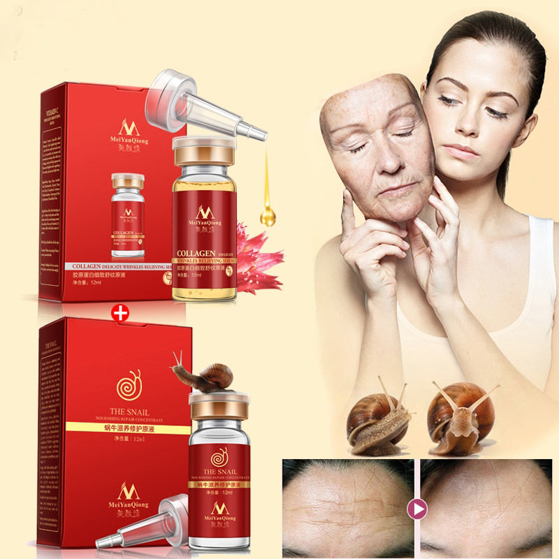 Anti-Aging and Firming Snail Face Cream and Serum