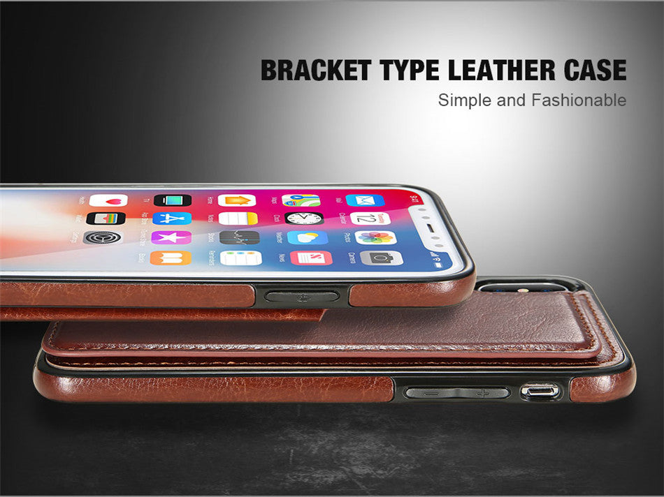 4 IN 1 LUXURY LEATHER CASE FOR IPHONE X 6 6S 7 8 PLUS - wholesale bear