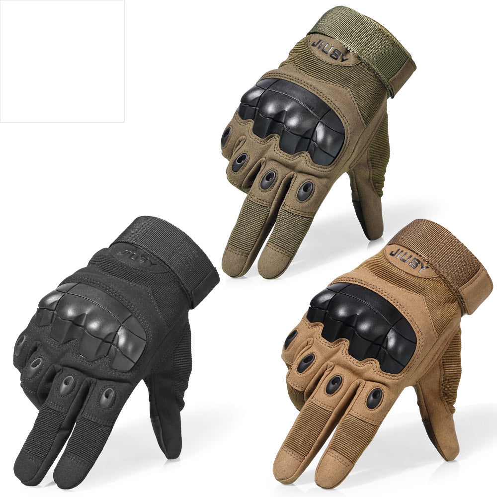 Anti-Skid Hard Rubber Knuckled Tactical Military Gloves