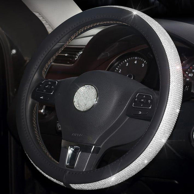 FASHION CRYSTAL STEERING WHEEL COVER