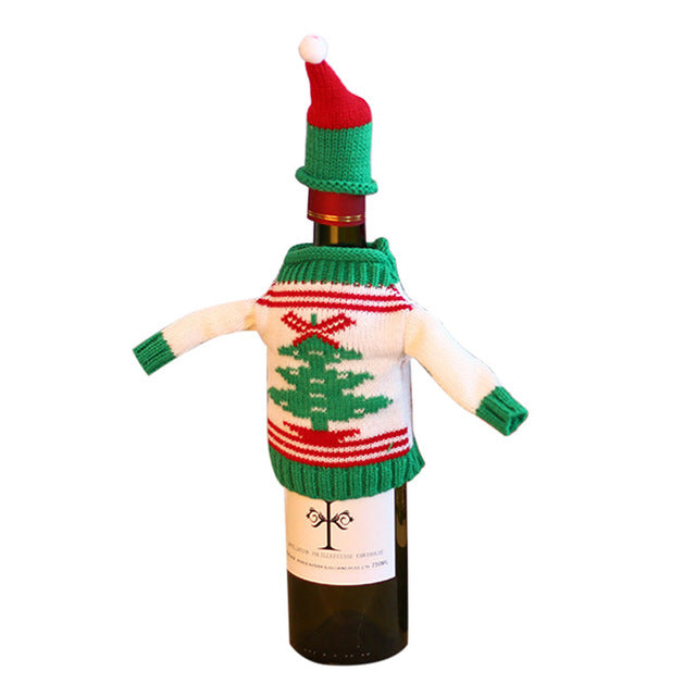 Wine Bottle Cover Bags Merry Christmas Decorations for Home Santa Claus Snowman Xmas Noel Dinner Decor Natal New Year Decoration
