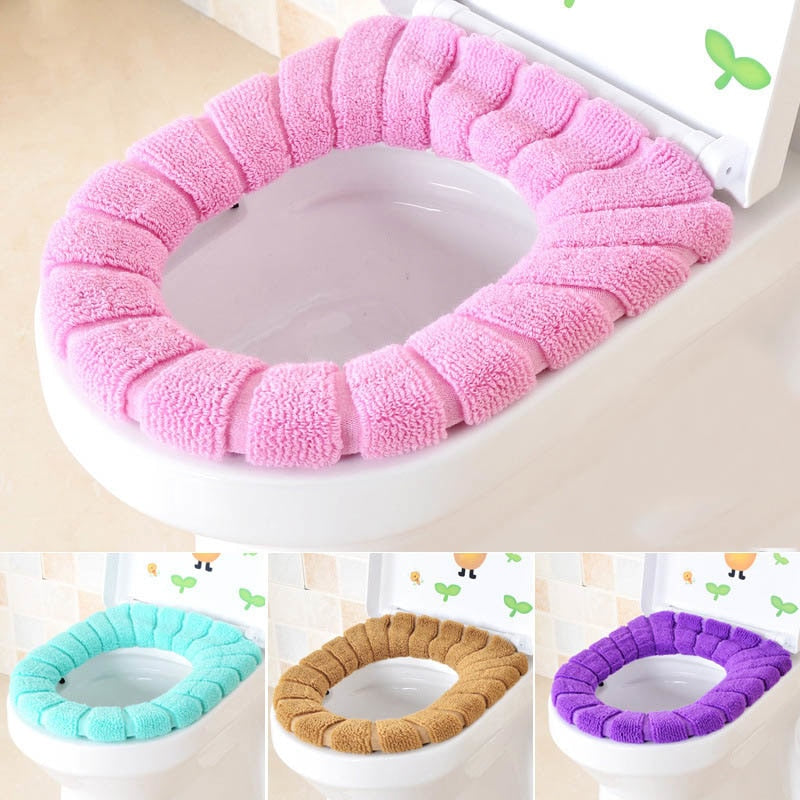 Warm Color Toilet Seat Cushion