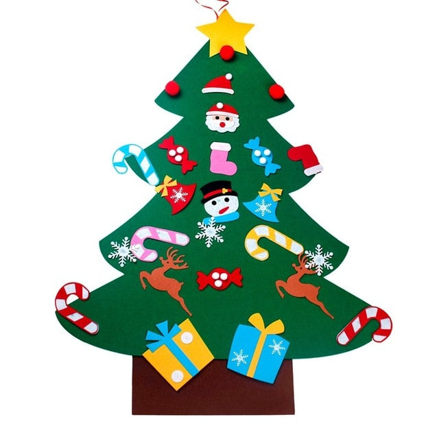Kids DIY Christmas Tree Decorations Xmas Hanging Ornaments Home Decor Happy New Year 2019 Children Christmas Gift