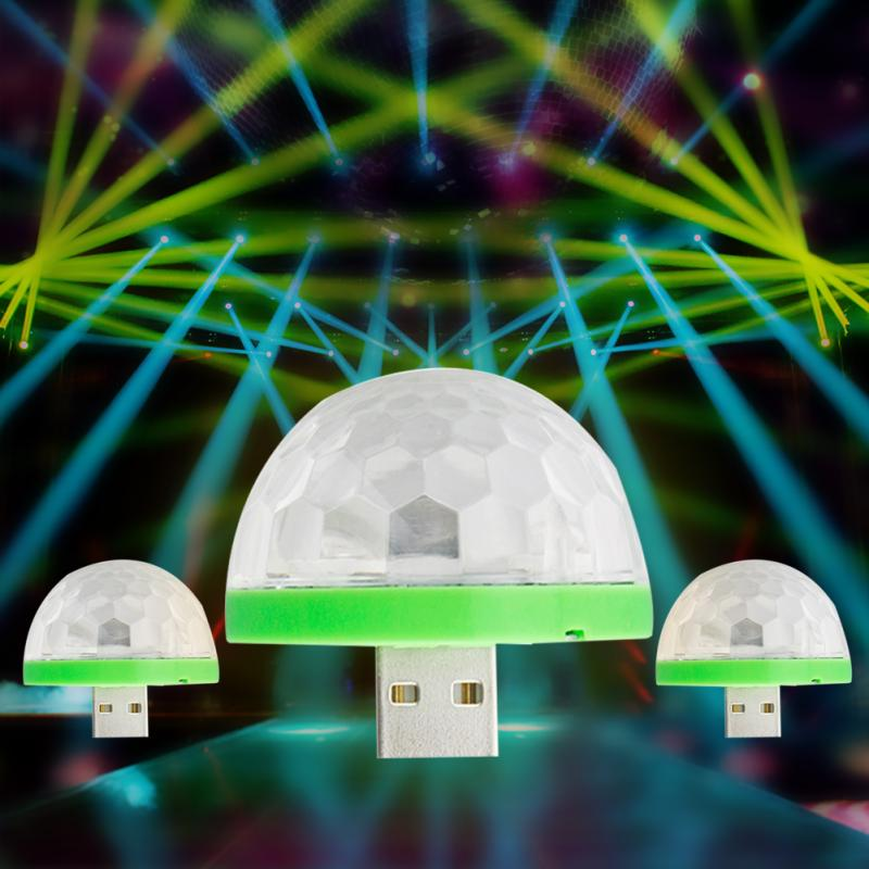 USB Mini Mushroom Party Disco Light