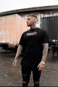 BLACK XQUIZIT OVERSIZED T-SHIRT