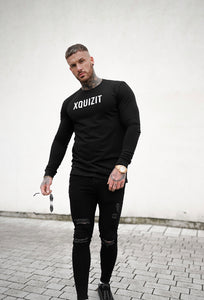 BLACK LONG SLEEVE XQUIZIT T-SHIRT