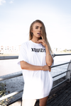 XQUIZIT OVERSIZED T-SHIRT DRESS WHITE