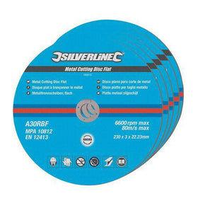 Metal Cutting Discs Flat 5pk
