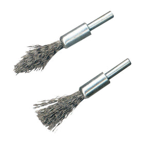 Steel De-Carb Brush Set 2pk