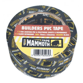 BUILDERS PVC TAPE BLACK 50MM