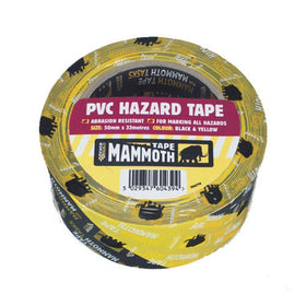 PVC HAZARD TAPE RD/WE 50MM